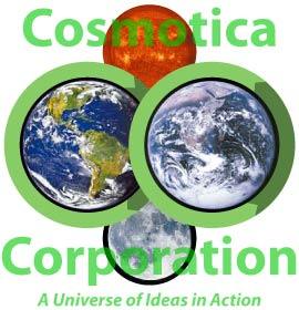 Cosmotica Corporation Logo - A Universe of Ideas in Action